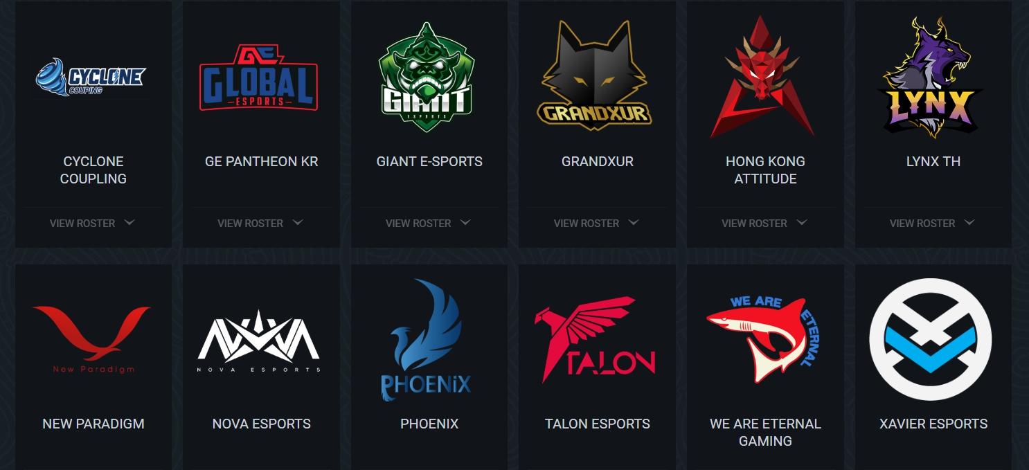 第三季參賽隊伍。