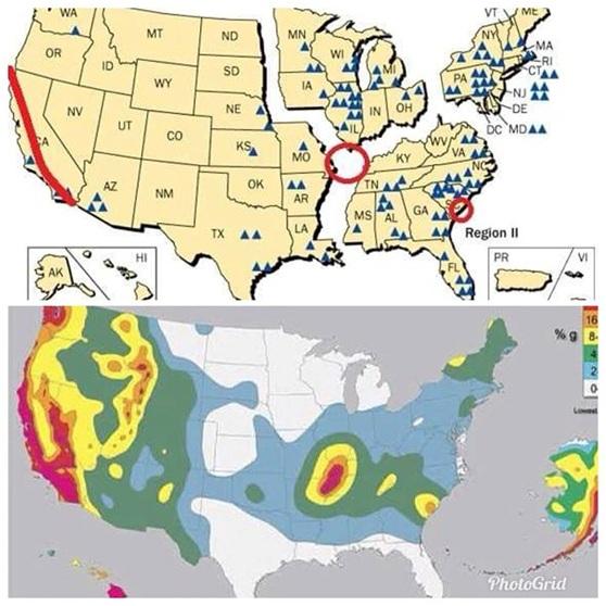 除了加州,美國核電廠地震風險較小,加州核電也規劃除役
