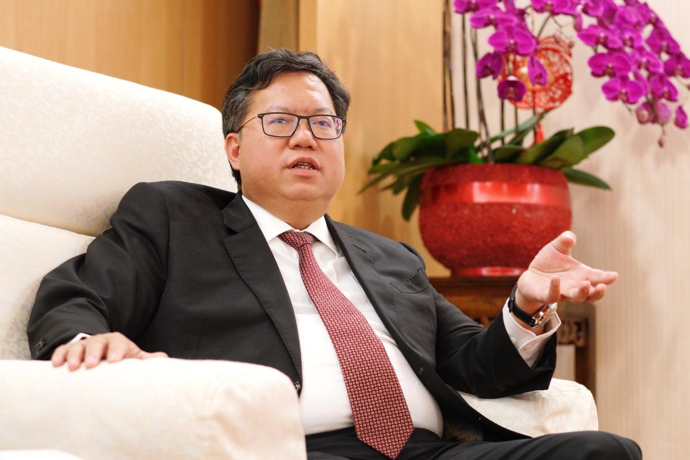 桃園市長鄭文燦專訪。 圖:張良一/攝