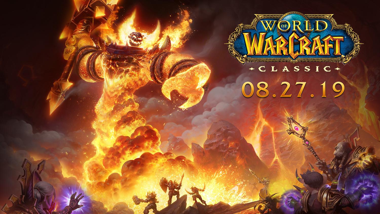《魔獸世界》經典版將於台灣時間8月27日早上6點上線。