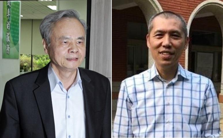 中華郵政董座魏健宏(右)、總經理陳憲着(左)
