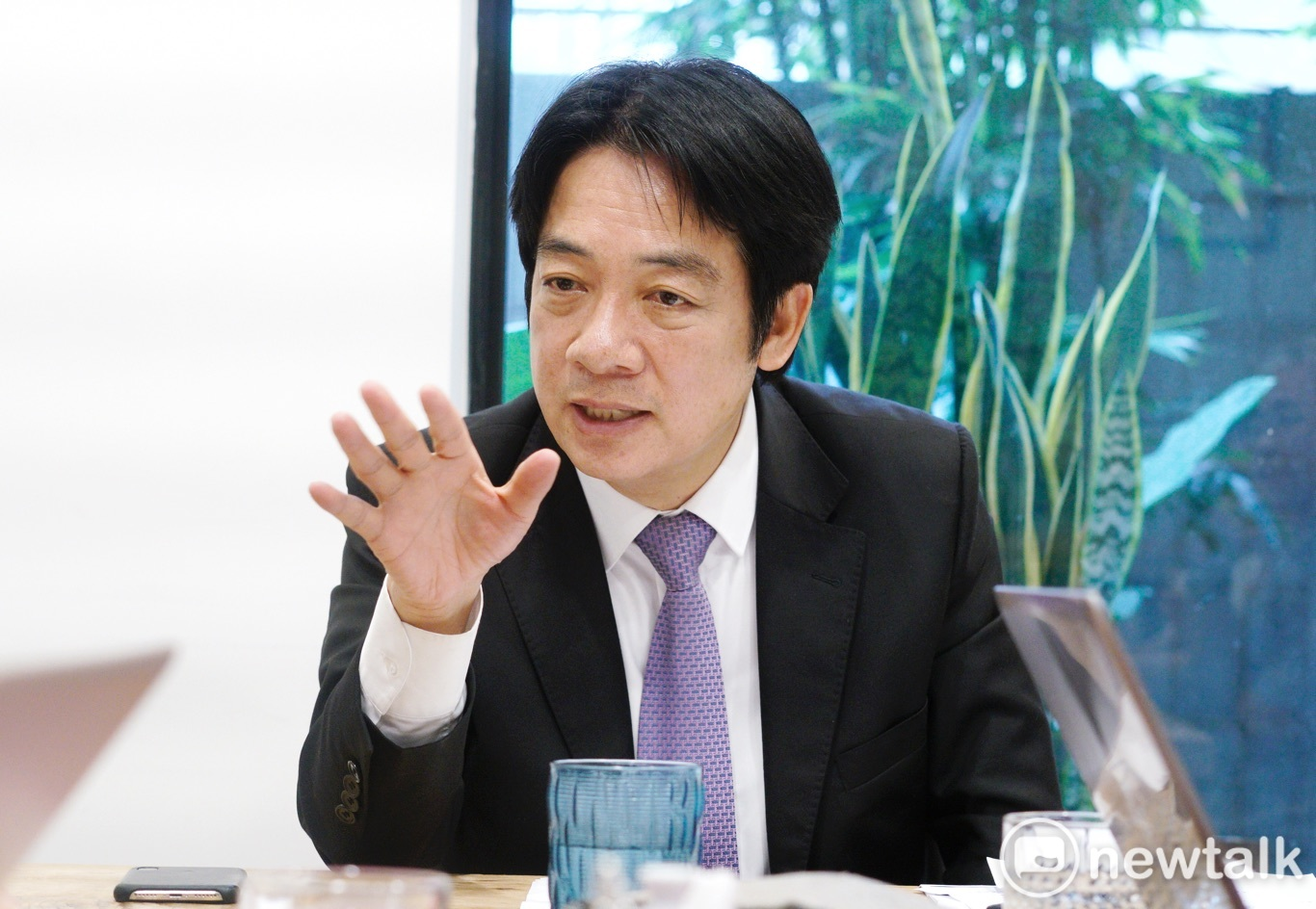 賴清德接受新頭殼專訪,他給台獨一個新定義,就是台灣獨立自主。圖/張良一攝