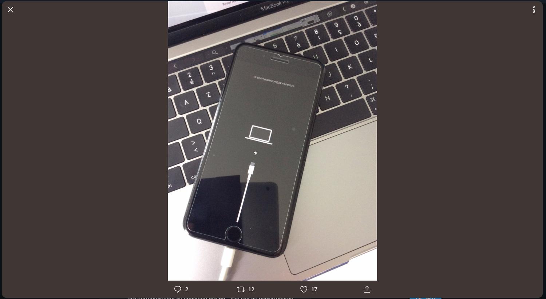 有推特用戶在iOS 13測試版中,發現可能換成USB 3.0的線索。圖:翻攝推特