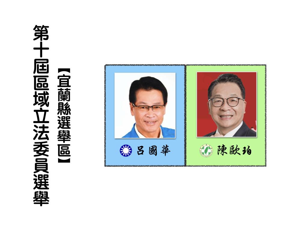 區域立法委員選舉,宜蘭縣選舉區。