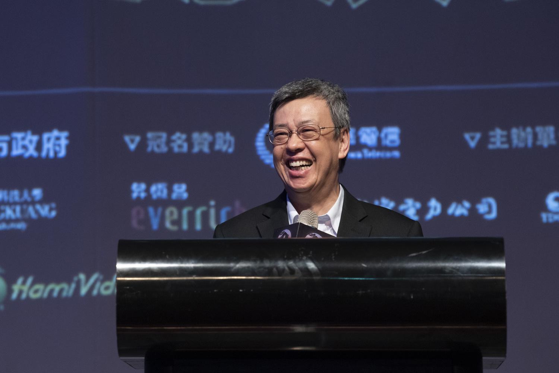 副總統陳建仁也來到比賽現場並致詞勉勵。