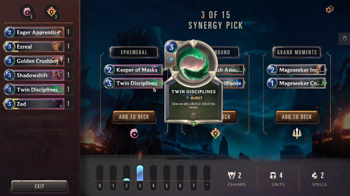 玩家在「遠征模式」中可以透過抽取卡包的方式組成牌組。