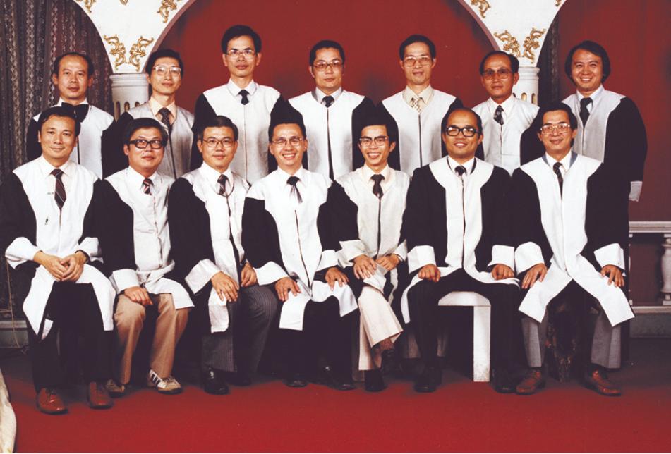 1980.5 美麗島辯護律師團,前排左三為尤清
