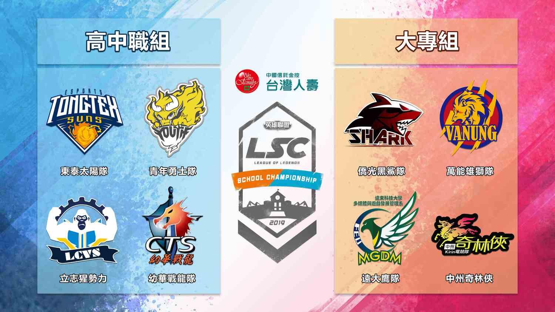 高中職及大專院校第二屆LSC季後賽四強種子隊伍將在例行賽回歸。