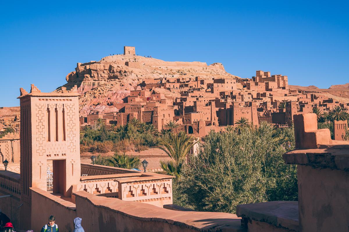艾本哈杜是標準的紅色村寨,保存完好的柏柏人古遺跡被聯合國教科文組織列為世界文化遺產。圖:謝佳真/攝