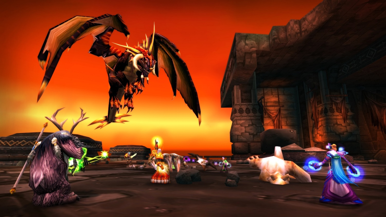 《魔獸世界》經典版黑翼之巢 遊戲截圖。