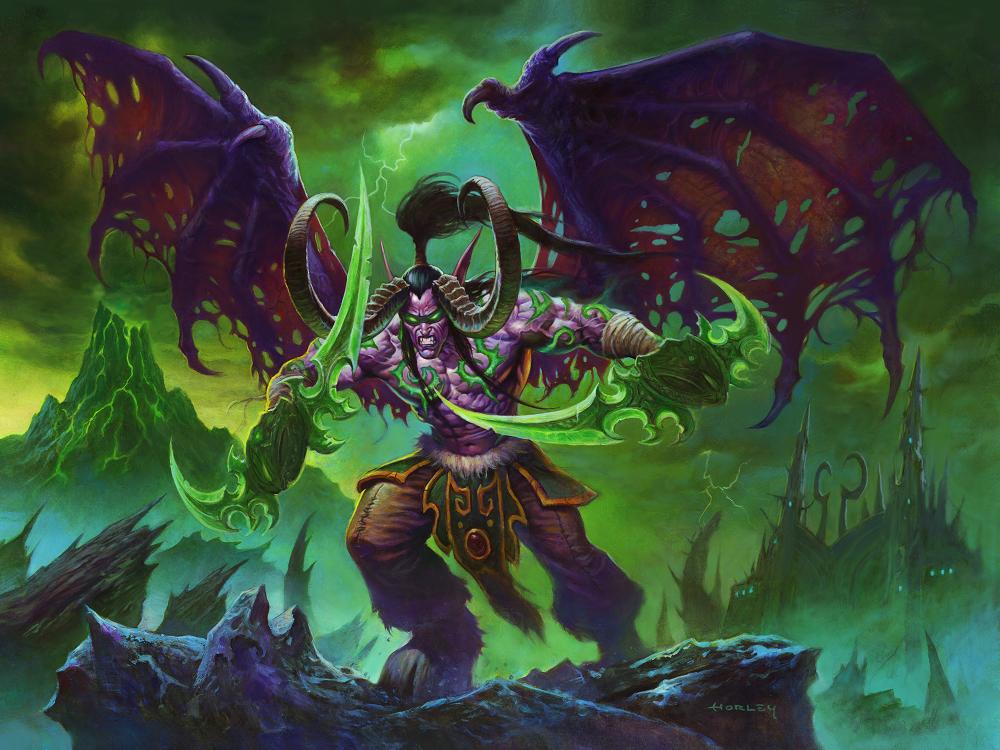 伊利丹‧風怒是新職業「惡魔獵人」的代表英雄。 圖:暴雪娛樂提供