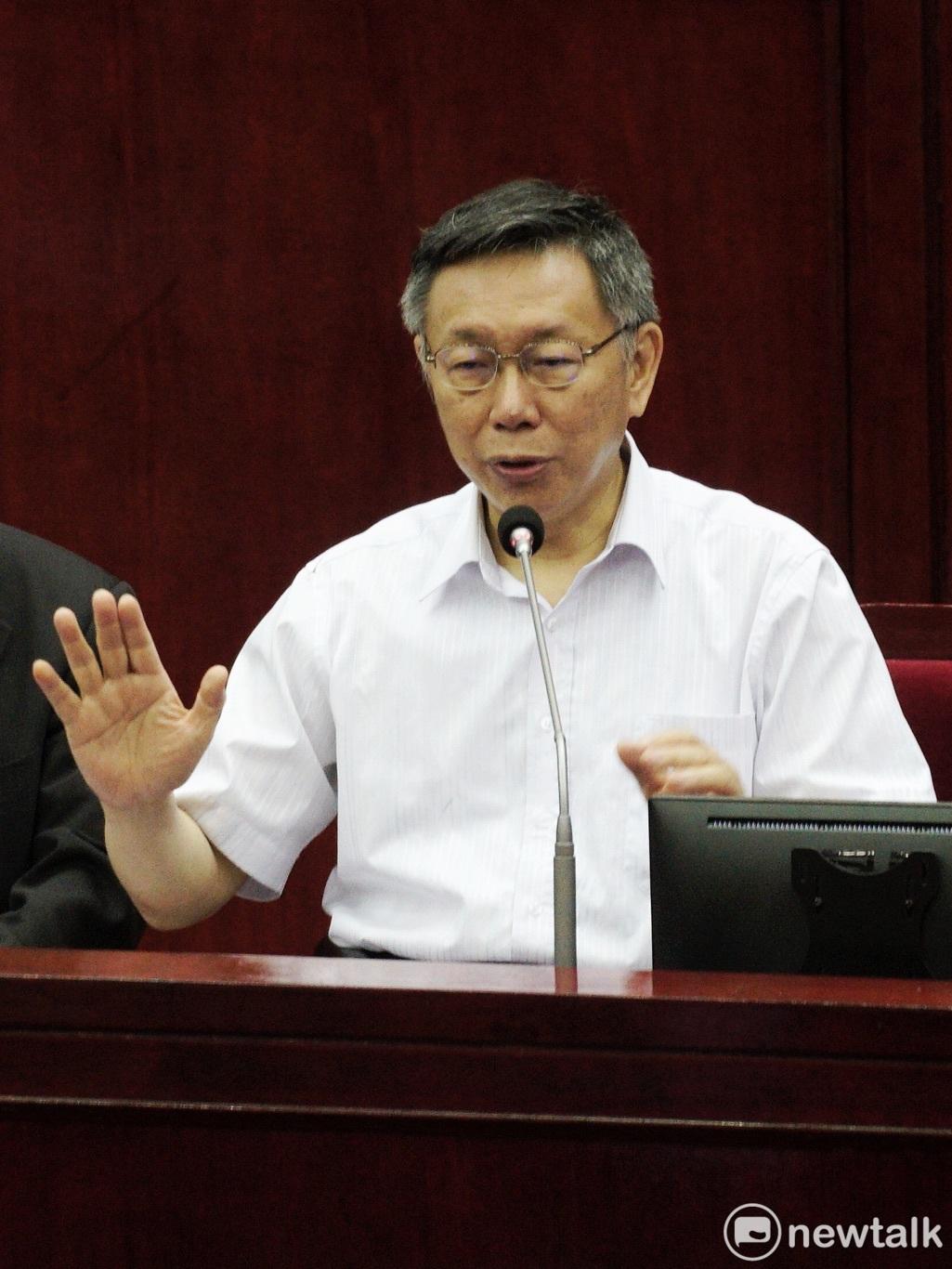 台北市長、民眾黨主席柯文哲。 圖:張良一 / 攝(資料照)
