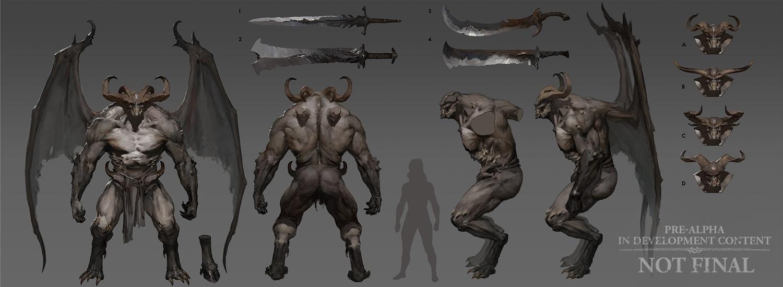 《暗黑破壞神IV》遊戲草稿示意圖。 圖:暴雪娛樂/提供