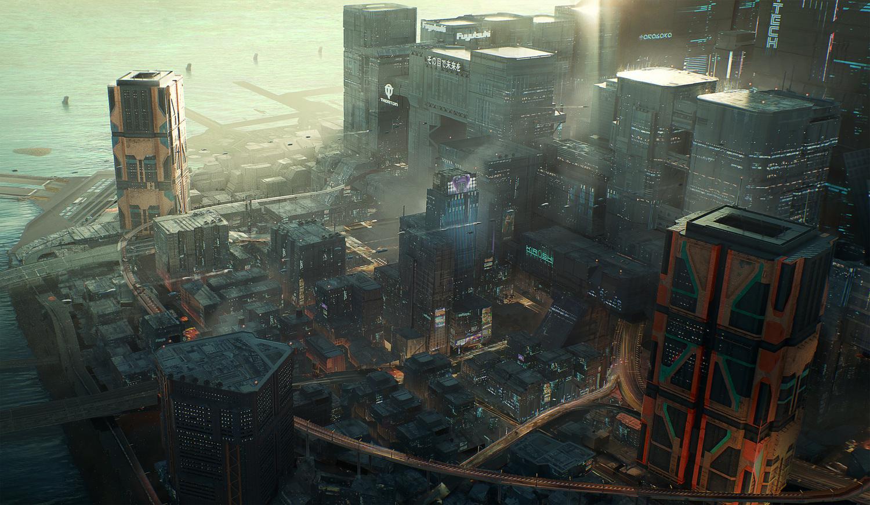 過去兩個月以來官方釋出最多的就是遊戲概念美術圖。 圖:翻攝自Cyberpunk 2077 twitter