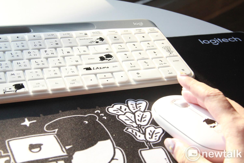 除了滑鼠以外,羅技更推出「厭世上班,快樂發懶」羅技x馬來貘限量聯名禮盒圖:蔡幸秀/攝