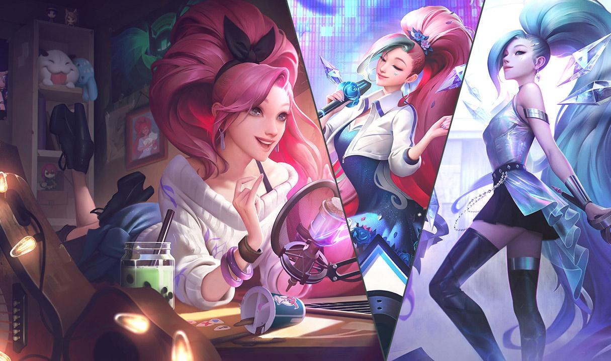 「K/DA 全體出動 瑟菈紛」將擁有三種獨立型態與各自的美術圖 圖:Riot Games