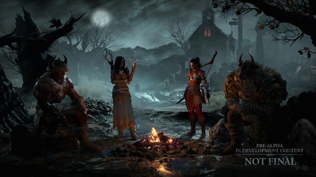《暗黑破壞神IV》公布的角色擴增為四個-野蠻人、魔法使、德魯伊及俠盜。 圖:暴雪娛樂提供