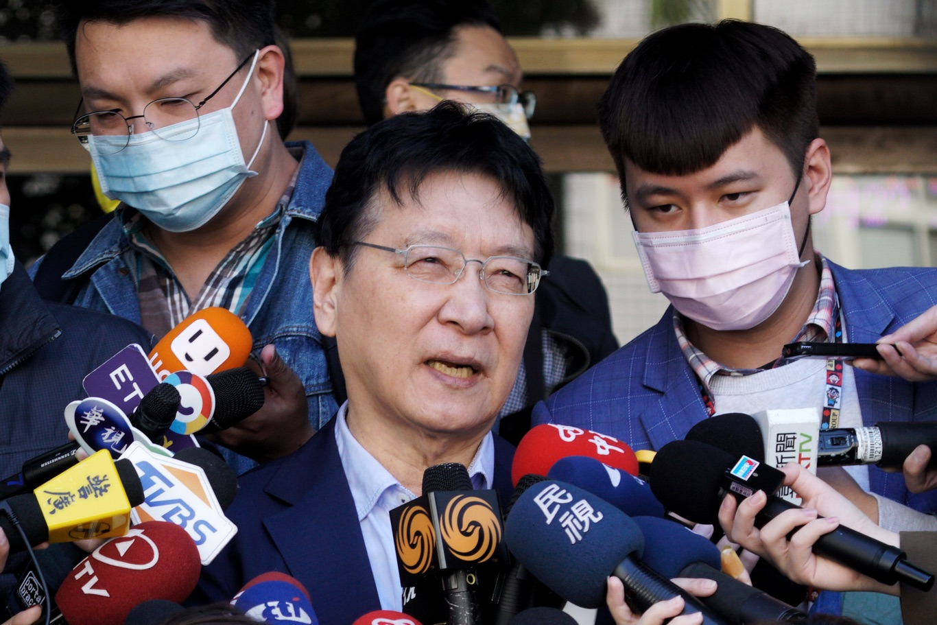 中廣董事長趙少康爲三中案出庭前受訪。 圖:張良一/攝