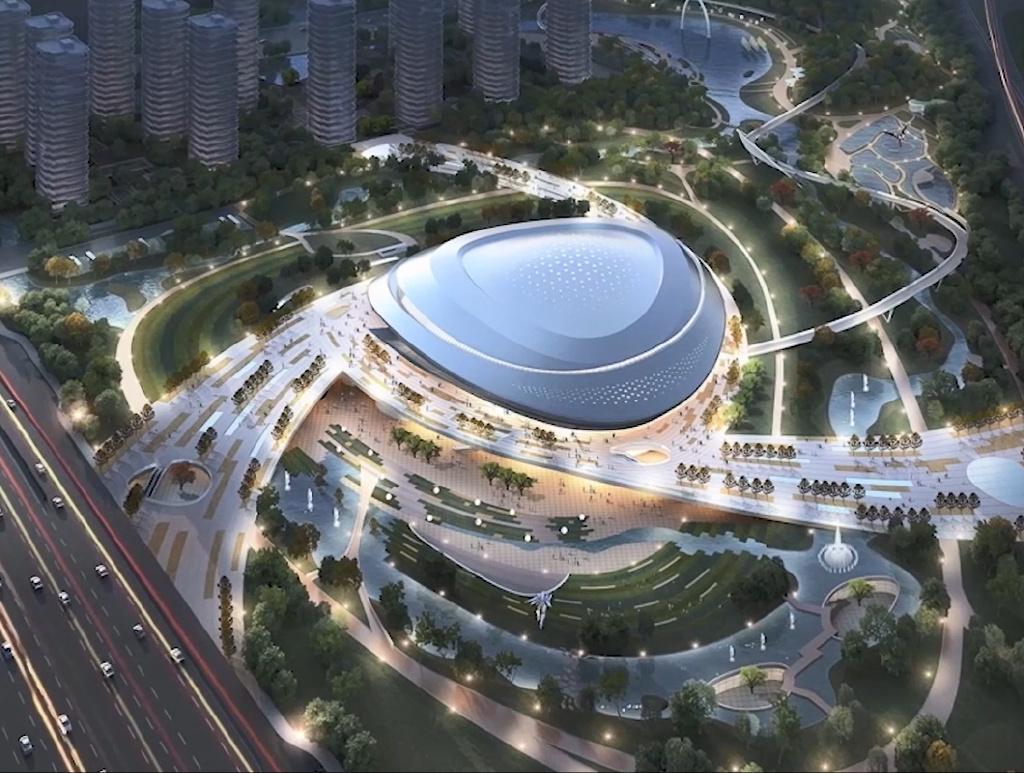 這座場館是中國首座為了亞運會賽事標準而打造的專業電子競技場館。 圖:翻攝自杭州2022亞運會微博