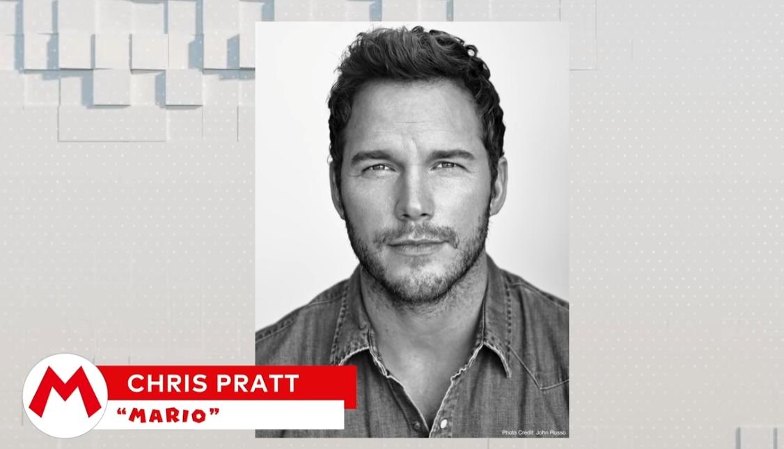 「星爵」演員克里斯.普瑞特將為瑪利歐配音。 圖:翻攝自任天堂直面會