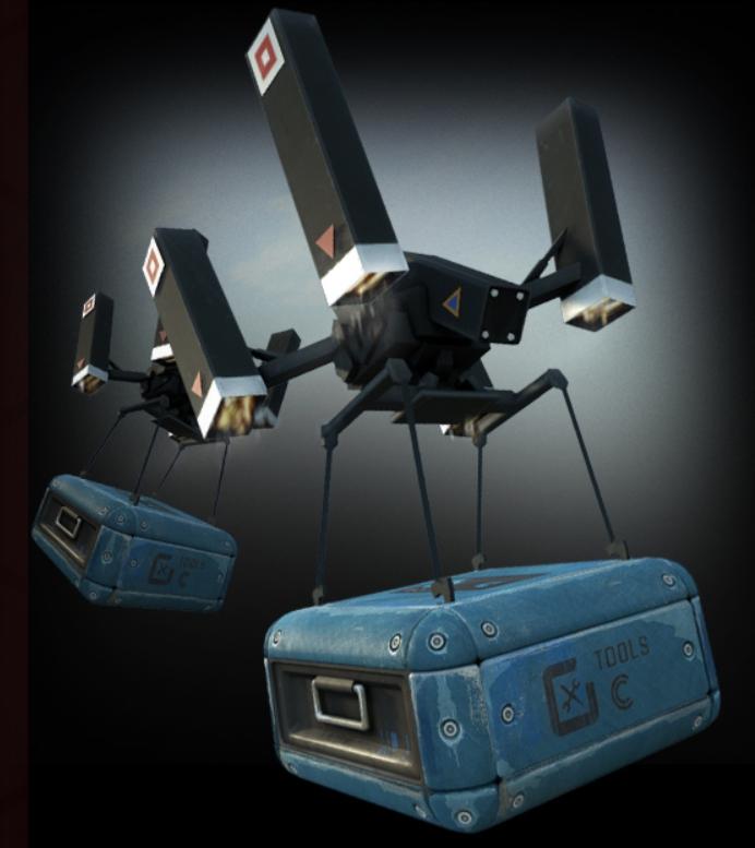 飛行機器人是玩家的好夥伴。