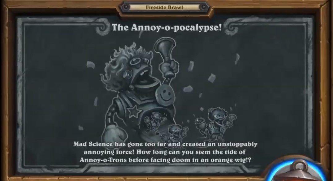 Annoy-o-pocalypse是爐邊聚會專屬的大亂鬥,高分榜的設定是重要概念。