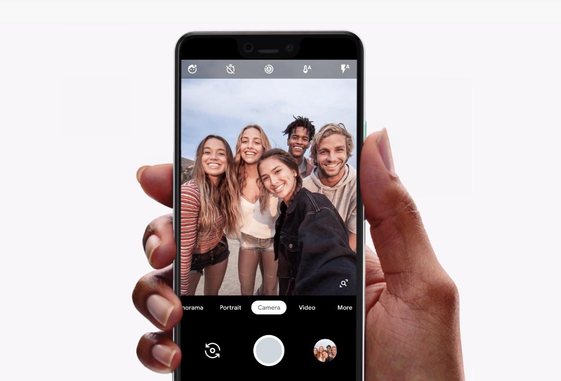 Google Pixel 3a與3a XL搭載肖像功能。圖:翻攝Google首頁