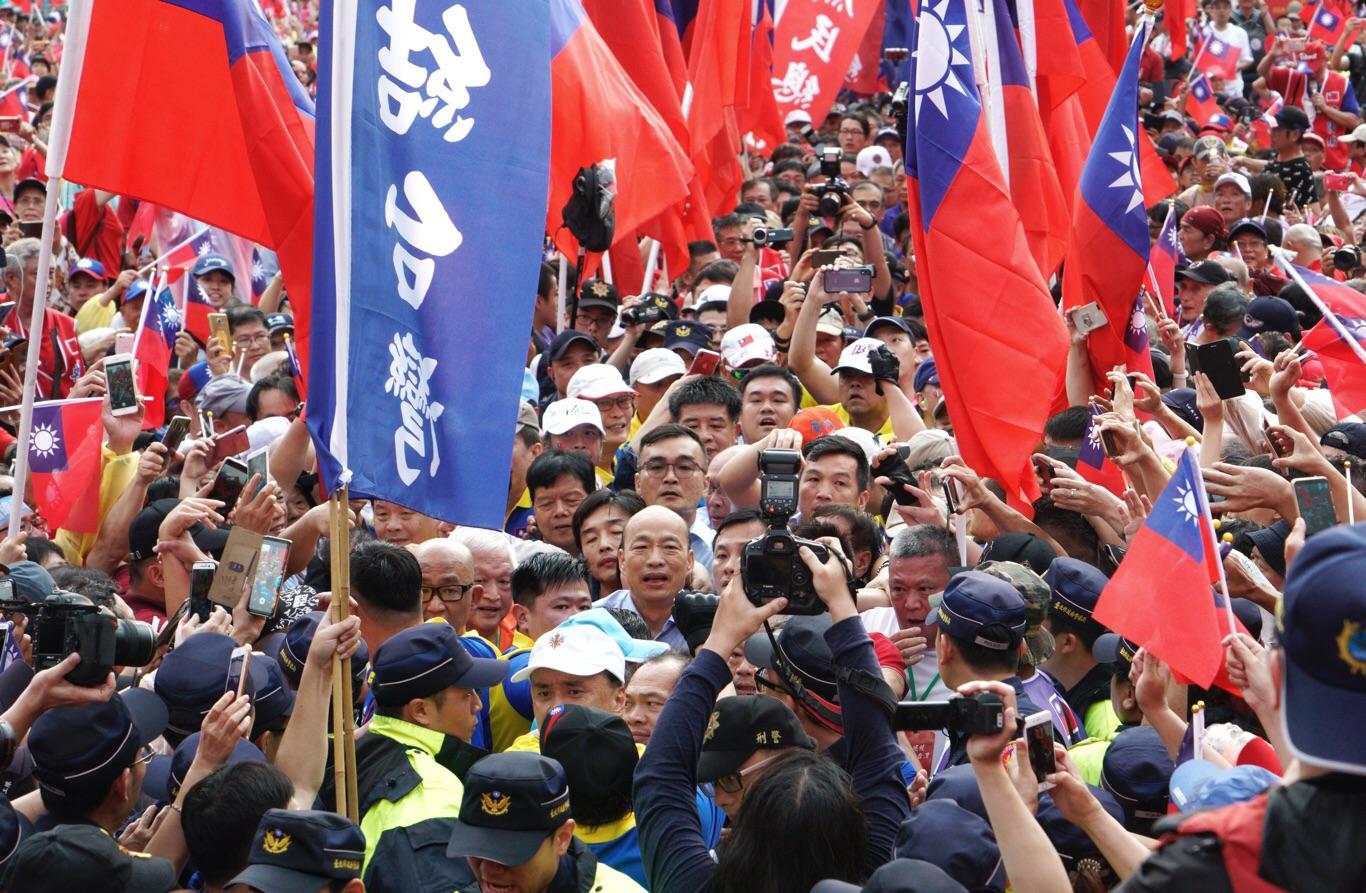 前高雄市長韓國瑜曾掀起一股「韓流」。 圖:張良一 / 攝(資料照片)