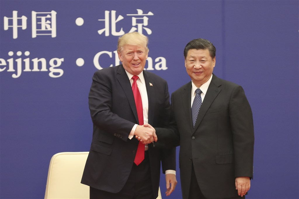 美國總統川普(左起)與中國領導人習近平將在G20峰會見面。 圖/中央社