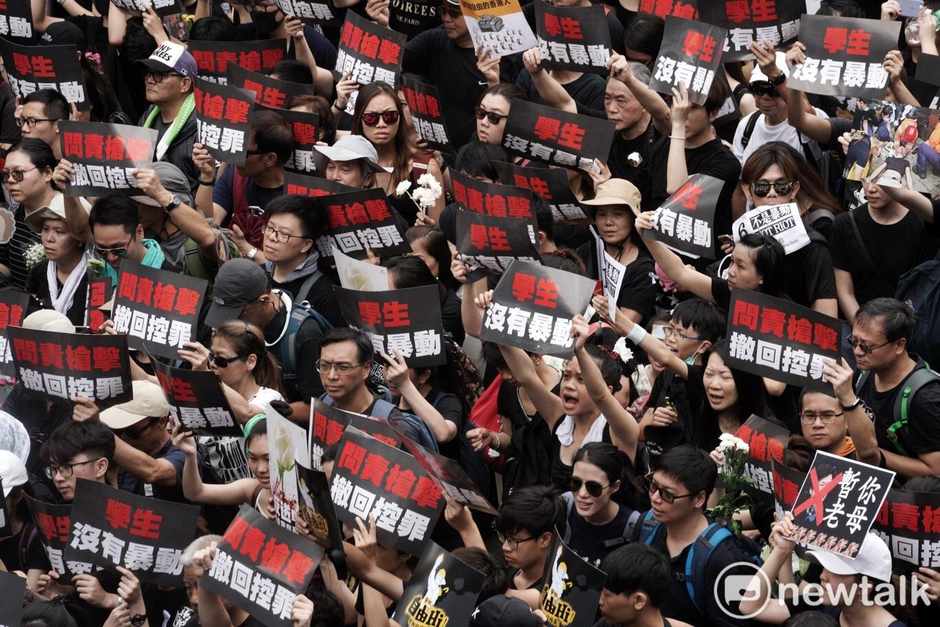 香港反送中運動越演越烈。 圖/張良一攝(資料照片)