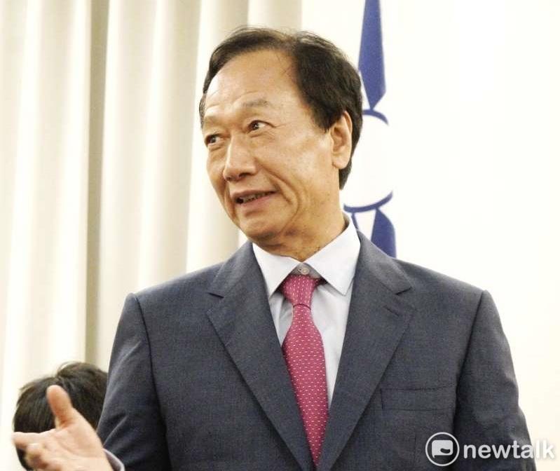 圖說:鴻海前董事長郭台銘先前退黨時,直指國民黨腐化。