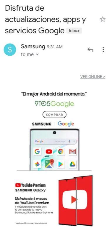 三星Note 10新機廣告,主打支援一系列的Google App服務,暗諷華為新機不支援Google服務的痛處。(圖:翻攝自androidcentral)