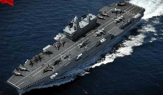 中國大陸075型兩棲攻擊艦想像圖。/圖:翻攝新浪軍事