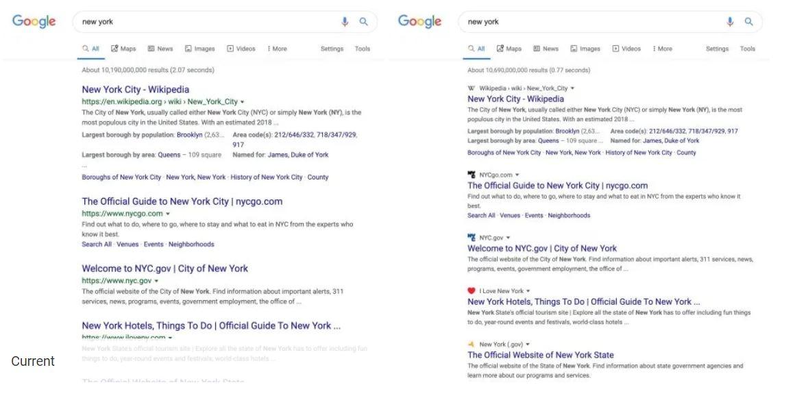 根據外媒《9to5Google》釋出的測試前後對比圖,Google改版設計主要有2大調整。