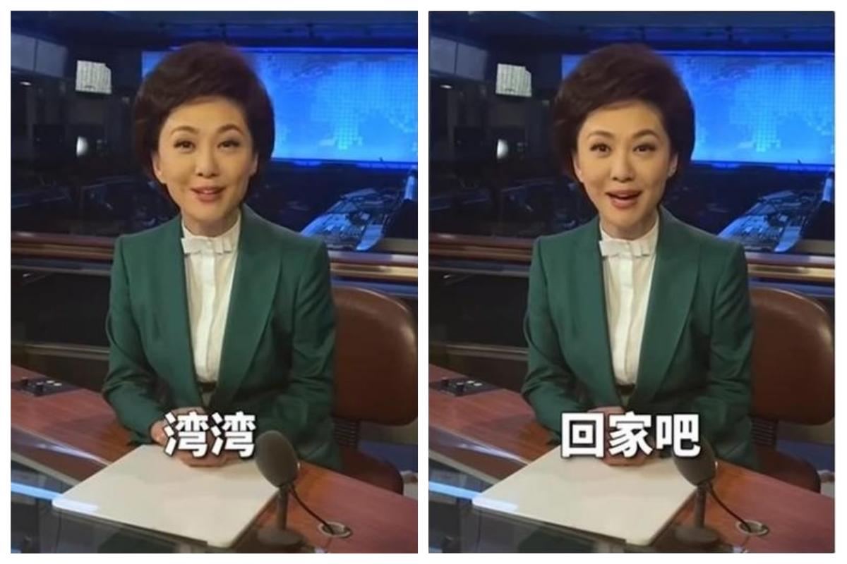 央視主播在節目中喊話:「灣灣,回家吧!」引發網友熱議討論。