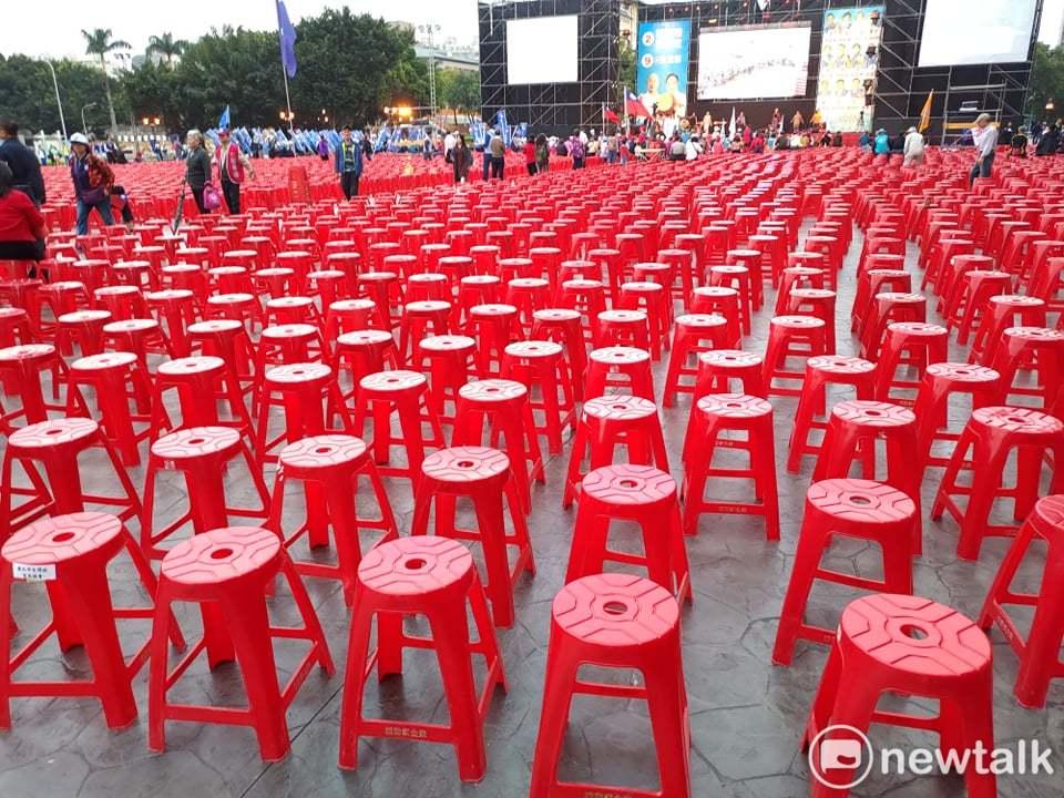 傍晚5點多的國民黨「新北選前之夜」現場。圖:黃建豪/攝