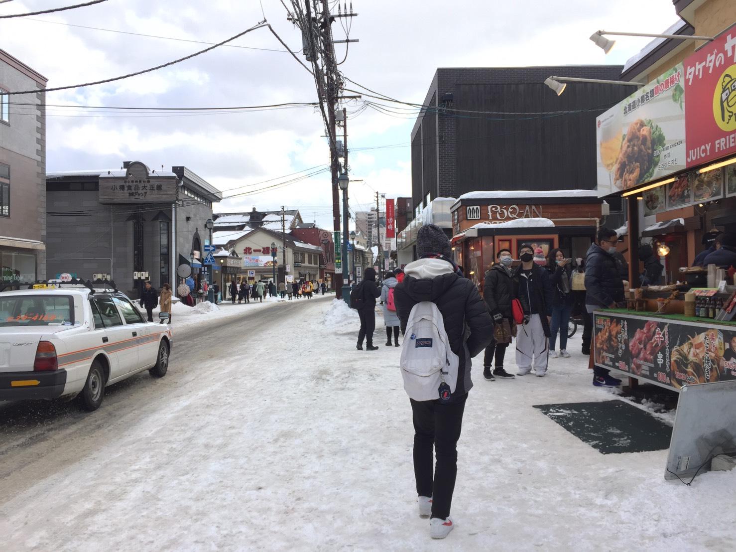 今年春節期間北海道小樽等地也有陸客大量湧來。/圖:劉黎兒提供