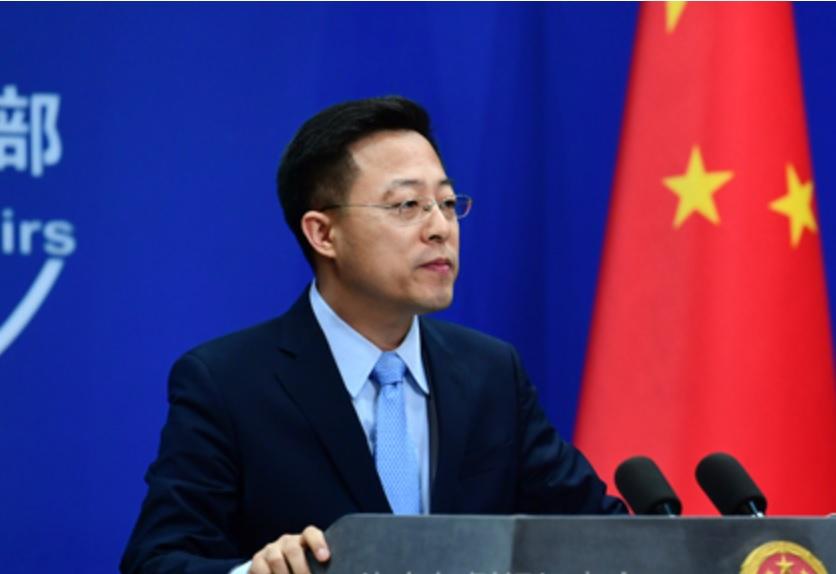 中國正試圖以外交及媒體的力量影響輿論,中國外交部發言人趙立堅日前質疑,是美軍將病毒帶到武漢。 圖:翻攝自中國外交部(資料照)