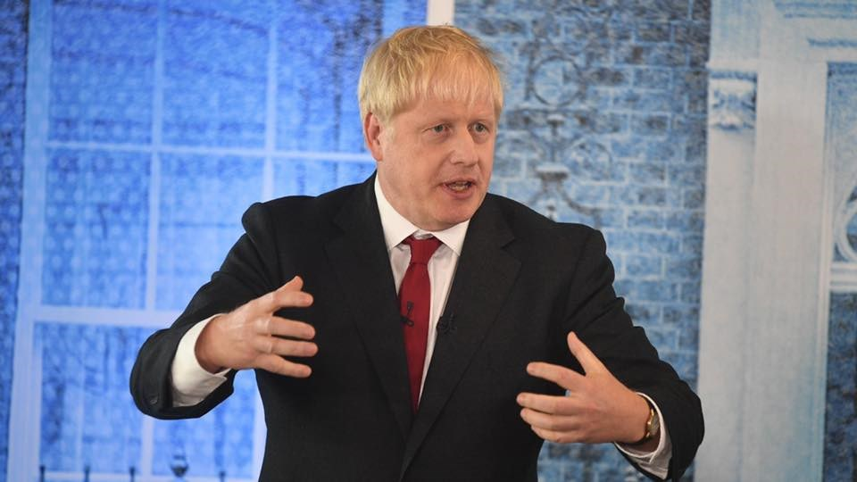 英國首相強生。 圖:翻攝自facebook.com/borisjohnson(資料照片)