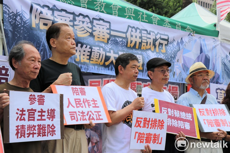 民進黨強推國民法官法,引來民間司改團體的強烈不滿,號召上街抗議。 圖:謝孟華/攝(資料照片)