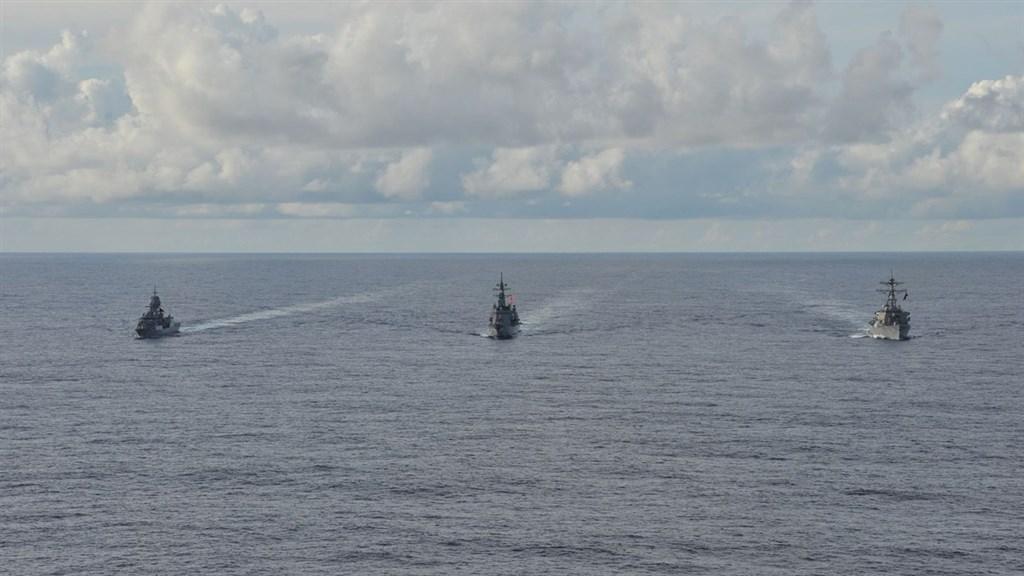 美日澳軍艦南海演習 2020年第5度聯手護印太