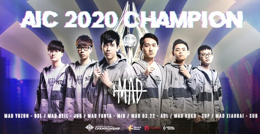 MAD勇奪AIC 2020國際賽世界冠軍 圖:Garena/提供