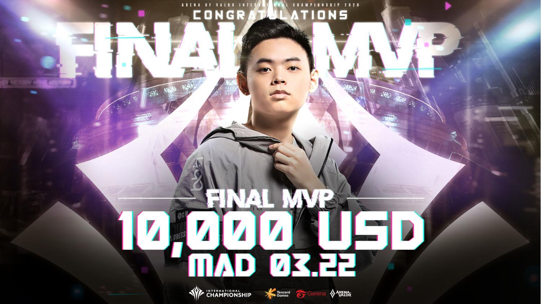MAD 03.22被選為「AIC 2020國際賽 Final MVP」 圖:Garena/提供