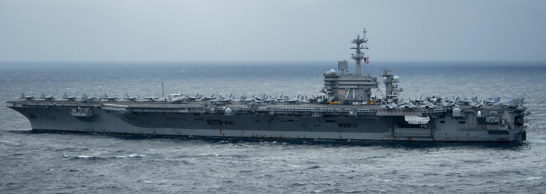 美國海軍羅斯福號(USS Theodore Roosevelt)航母打擊群以「確保航海自由」為由駛進南海。 圖:取自美軍印太司令部(U.S.Indo-Pacific Command)官網(資料照片)