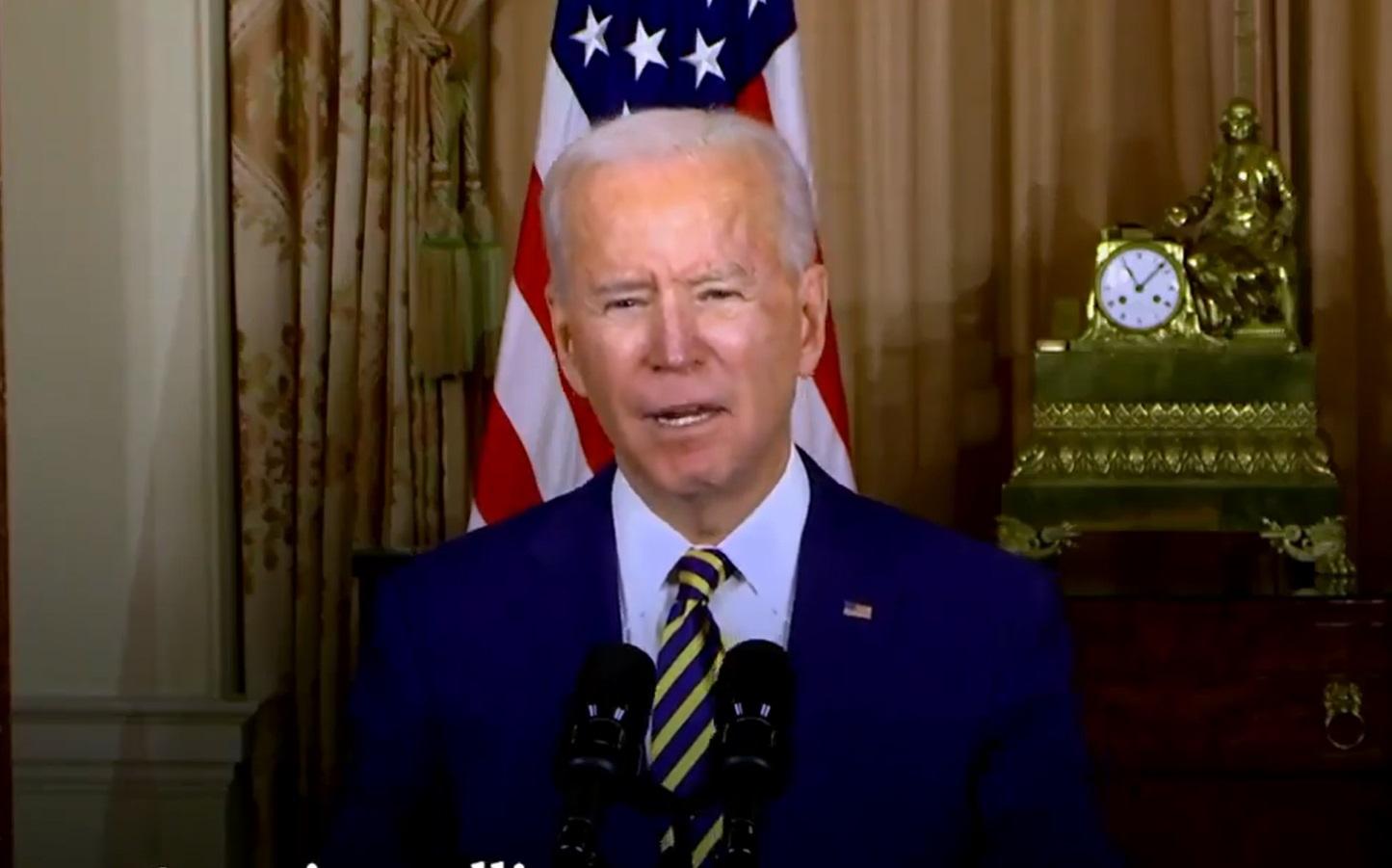 美國總統拜登(Joe Biden)。 圖/截取自拜登推特影片