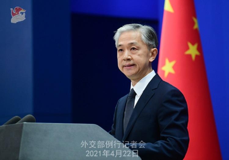 中國外交部發言人汪文斌。 圖:翻攝中國外交部網站(資料照片)