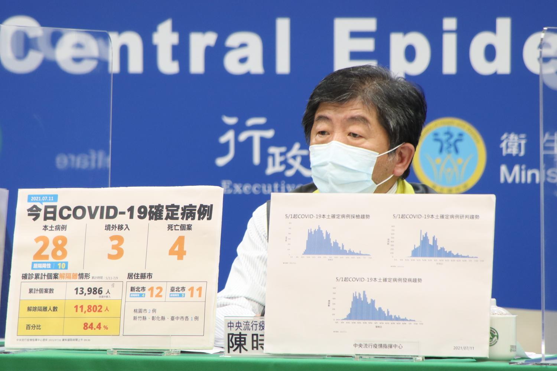 中央流行疫情指揮中心指揮官陳時中。 圖:中央流行疫情指揮中心提供
