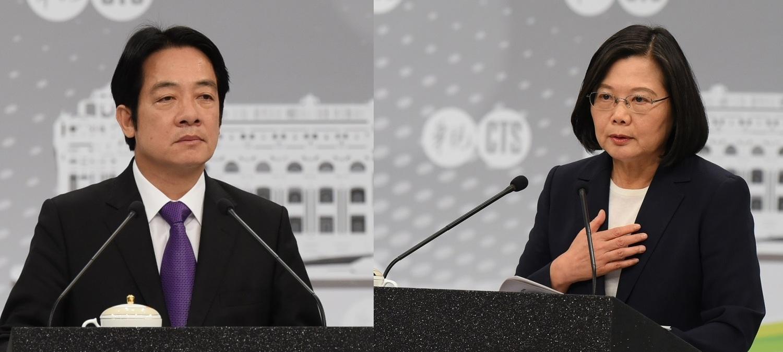 前行政院長賴清德與總統蔡英文參加民進黨總統初選電視政見發表會。圖:新頭殼合成