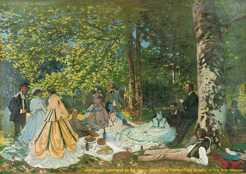草地上的午餐 Luncheon on the Grass / 克勞德·莫內Claude Monet / 1866