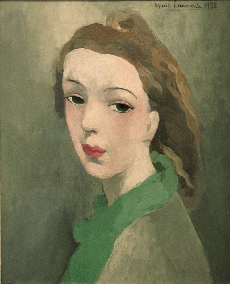 日動畫廊 Galerie Nichido_Marie Laurencin_Jeune fille_oil on canvas_34x27cm_1938    圖:截自Art Taipei網站